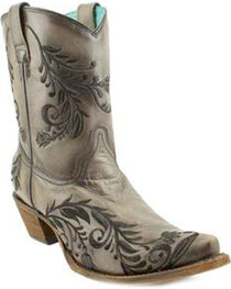 Corral Women's Western Embroidery Short Boots - SnipToe , , hi-res