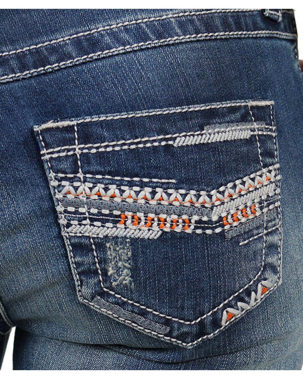 Shyanne® Women's Chevron Embroidered Capris, , hi-res