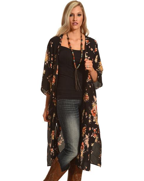 Ces Femme Women's Long Floral Kimono, , hi-res