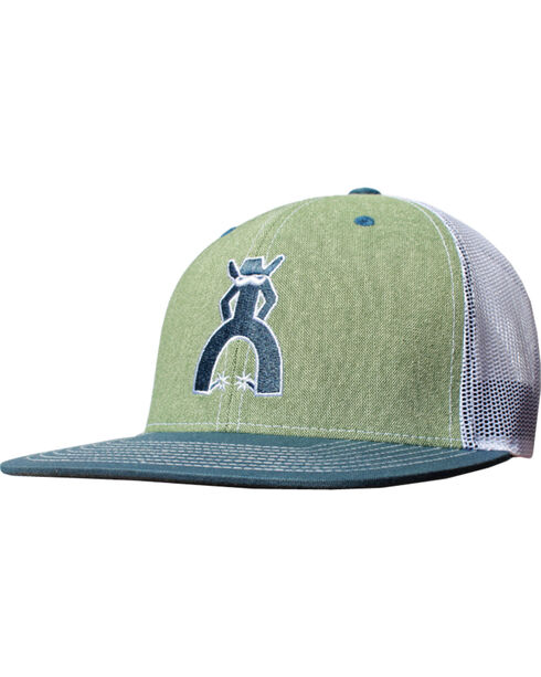 Hooey Men's Taos Six Panel Trucker Cap , Green, hi-res