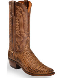 Lucchese Men's Walter Hornback Caiman Western Boots - Snip Toe , , hi-res