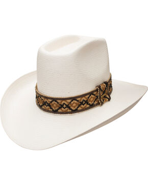 Resistol Men's Natural Hi Sierra Straw Cowboy Hat , Natural, hi-res