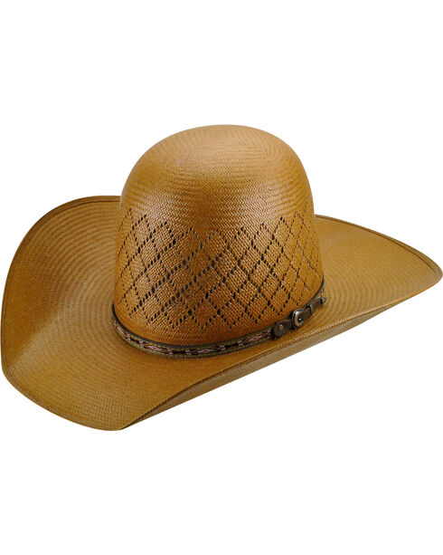 Bailey Men's Western Ruger Open Crown Straw Hat, Putty, hi-res