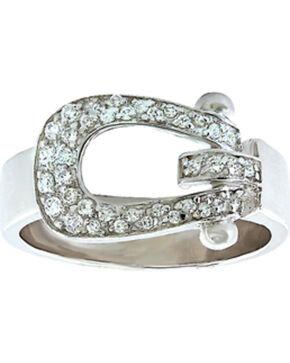 Montana Silversmiths Women's Stunning Stirrup Ring, Silver, hi-res