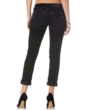 Miss Me Women's Black Modern Mix Cuffed Skinny Jeans , Black, hi-res