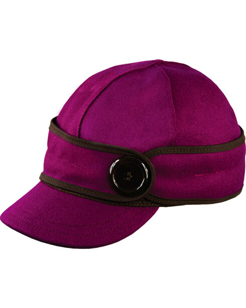 Stormy Kromer Women's Raspberry The Button Up Cap, Raspberry, hi-res