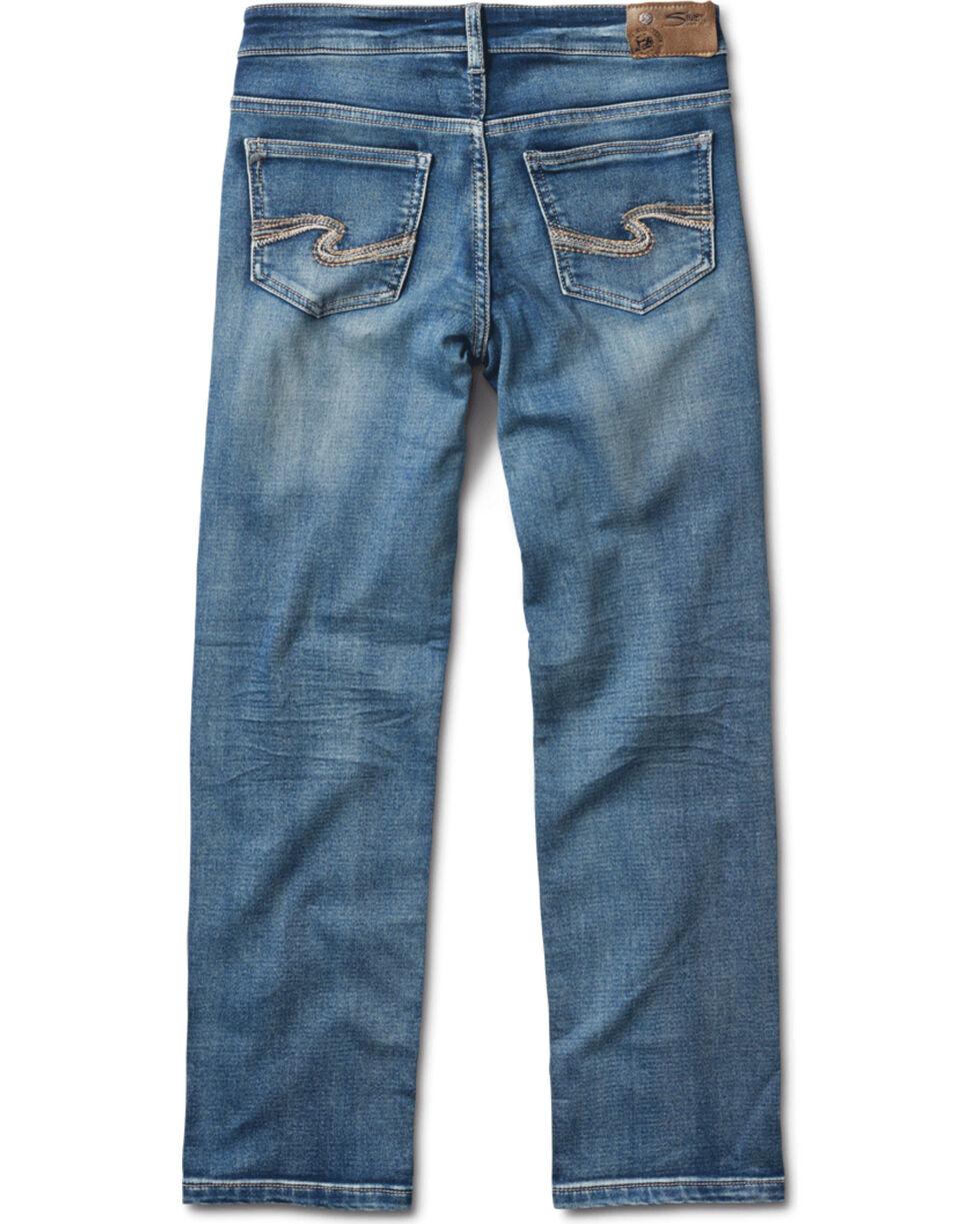 Silver Boys' Benny Medium Wash Straight Leg Jeans, Indigo, hi-res
