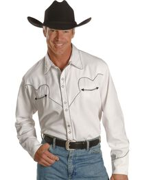 Scully White Retro Western Shirt, , hi-res