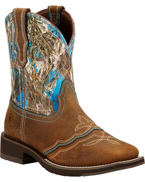 Ariat Women's Ranchbaby II Western Boots, Brown, hi-res