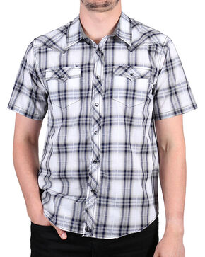 Cody James Men's Huckleberry Short Sleeve Shirt - Tall, White, hi-res