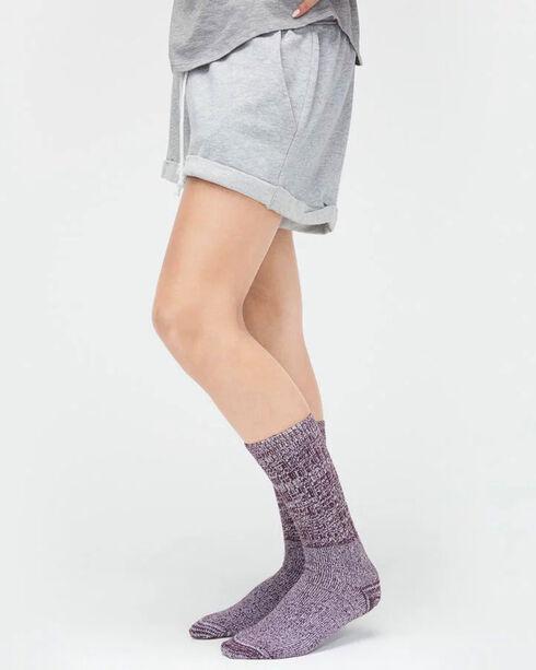 UGG® Women's Slouch Knit Crew Socks, Wine, hi-res