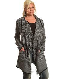 Allison Brittney Women's Shawl Collar Long Sleeve Cardigan, , hi-res