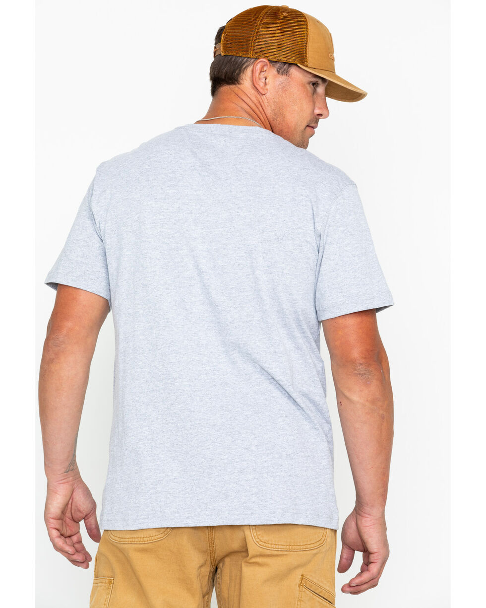 Carhartt Men's Gray Lubbock Graphic in USA Tee , Heather Grey, hi-res