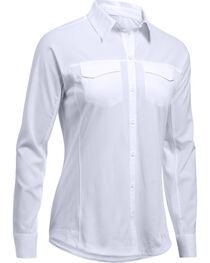 Under Armour Women's White Tide Chaser Hybrid Shirt, , hi-res