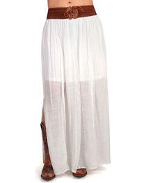 Shyanne Women's Cream Long Peasant Skirt , , hi-res