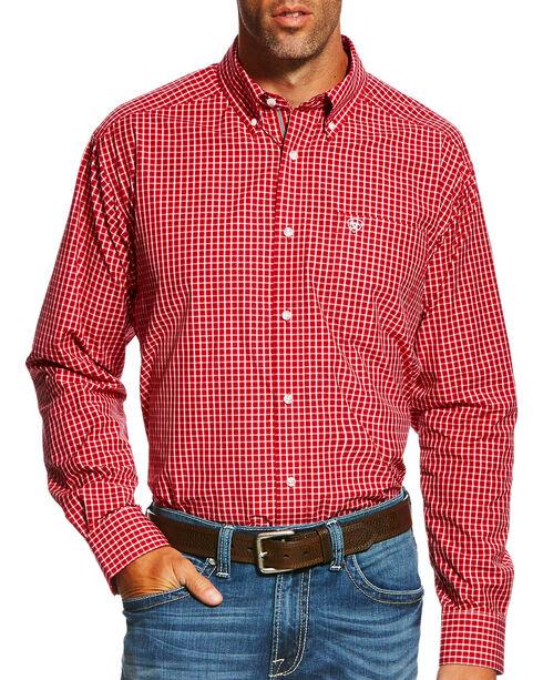 Ariat Men's Pro Series Gabriel Plaid Long Sleeve Button Down Shirt - Big & Tall, Red, hi-res