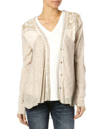 Miss Me Women's Paisley Pleat Cardigan, , hi-res