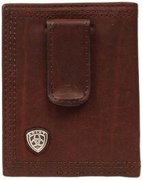 Ariat Logo Concho Clip Bi-fold Wallet, , hi-res
