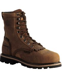 "Justin Men's Wyoming Waterproof 8"" Lace-Up Work Boots, , hi-res"