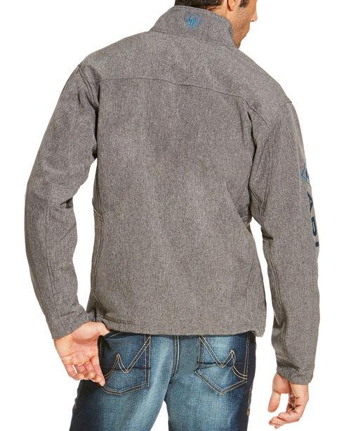 Ariat Men's Logo Softshell Jacket, Charcoal, hi-res