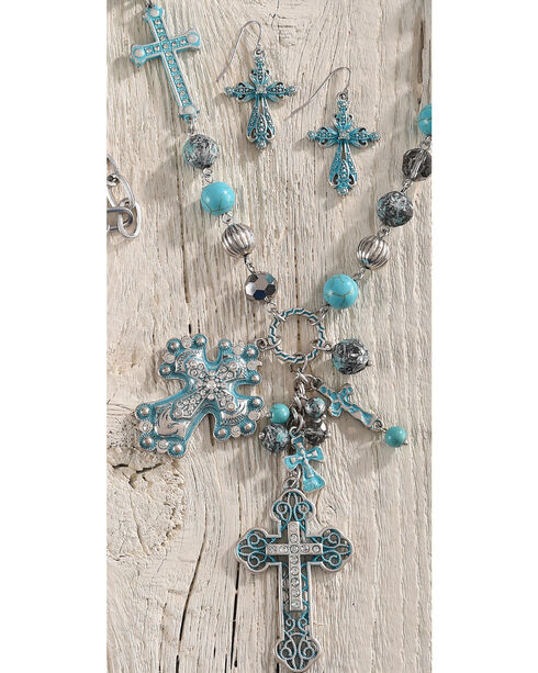 Shyanne Women's Multi-Cross Jewelry Set, Turquoise, hi-res