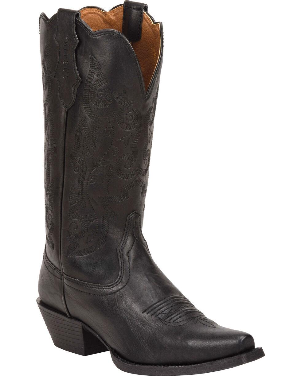 Justin Women's Farm & Ranch Western Boots, Black, hi-res