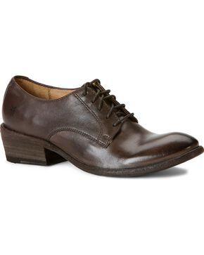 Frye Women's Carson Oxford Shoes - Round Toe, Smoke, hi-res
