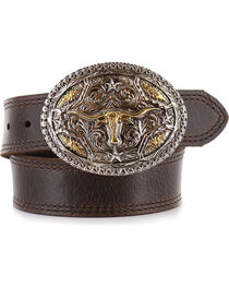 Cody James® Kid's Long Horn Buckle and Belt, , hi-res