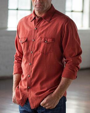 Ryan Michael Men's Brick Birdseye Texture Shirt, Red, hi-res