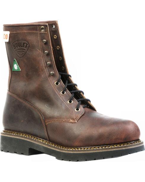 "Boulet Women's Square Toe 14"" Western Boots, Copper, hi-res"