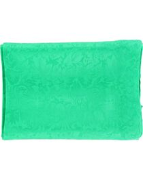 Kelly Green Jacquard Silk Wild Rag, , hi-res