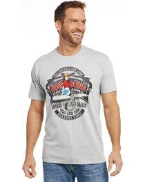 Cowboy Up Men's Heather Grey Big Guns Short Sleeve T-Shirt , , hi-res