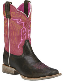 Ariat Kid's Mesteno Western Boots, Toffee, hi-res