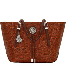 Bandana by American West Dallas Orange Sun Zip Top Tote , , hi-res
