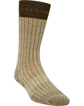 Carhartt Brown Steel Toe Arctic Wool Boot Socks, Brown, hi-res