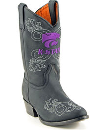 Gameday Boots Girls' Kansas State University Western Boots - Medium Toe, , hi-res