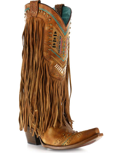 Women's Fringy Western Boot