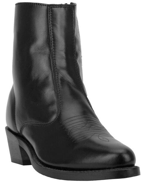 "Laredo Men's Side Zipper 7"" Western Boots, Black, hi-res"