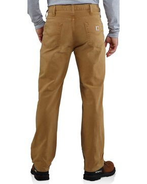 Carhartt Men's Weathered Duck Work Pants, Brown, hi-res