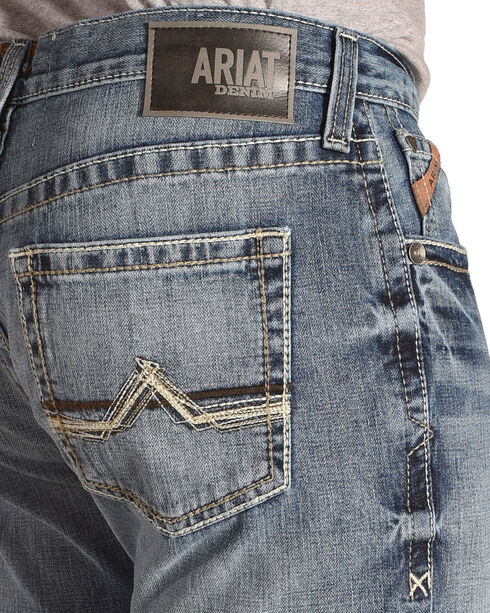 Ariat Men's M4 Maxwell Low Rise Relaxed Fit Boot Cut Jeans - Big, Blue, hi-res
