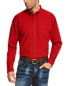 Ariat Men's Ruby Sandberg Plaid Button Up Pro Shirt - Tall, Ruby, hi-res
