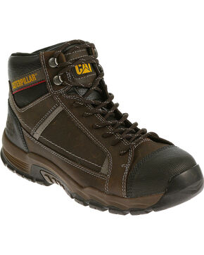"CAT Men's Regulator 6"" Steel Toe Work Boots, Brown, hi-res"
