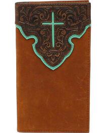 Nocona Contrast Cross Rodeo Wallet, , hi-res