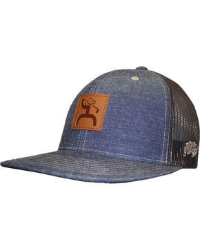 HOOey Men's Denim Hybrid Visor Ball Cap, Blue, hi-res