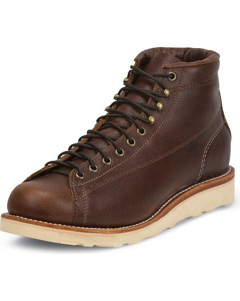 Chippewa Men's Lace-to-Toe Bridgemen Boots, Dark Brown, hi-res