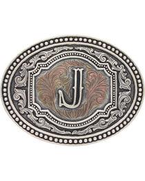 Montana Silversmiths Initial J Belt Buckle, , hi-res