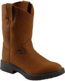Justin Juniors Youth Western Work Boots, , hi-res