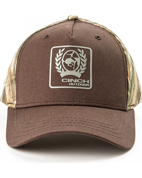 Cinch Men's MAX5 Camo Baseball Cap, Brown, hi-res