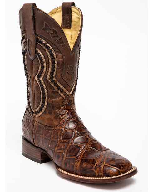 Corral Men's Alligator Exotic Western Boots, Grey, hi-res