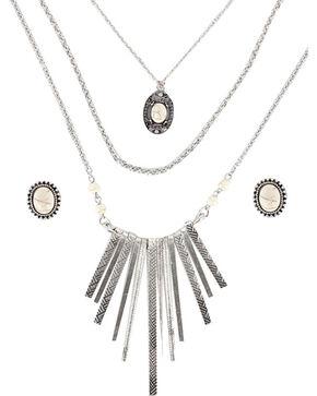 Shyanne® Women's Aztec Inspired Waterfall Jewelry Set, Cream, hi-res